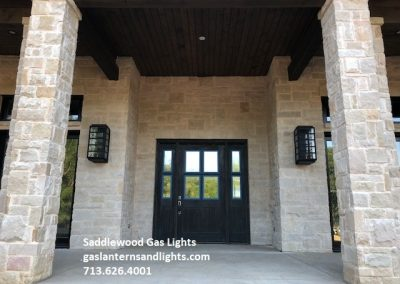 Large San Marcos Contemporary Gas Lights