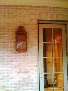 Gas lantern installation 4