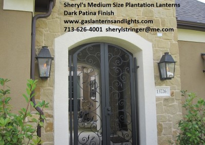 Sheryl's Plantation Gas Lantern with Solid Top, Fall Creek, Houston