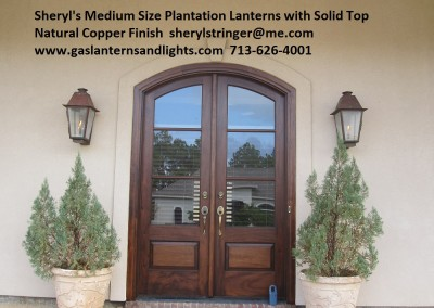 Sheryl's Plantation Gas Lanterns with Solid Tops