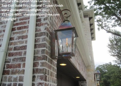 Sheryl's Plantation Gas Lamp, Natural Copper Finish