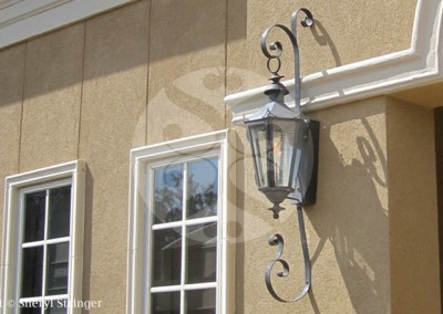 Sheryl's Alexandria Gas Lantern with Dark Patina Finish