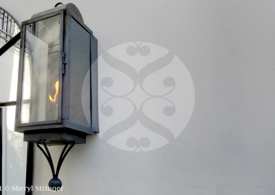 Broad Oaks Natural Gas Light with Dark Patina Finish