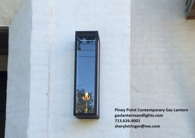 59. Piney Point Contemporary Gas Lantern