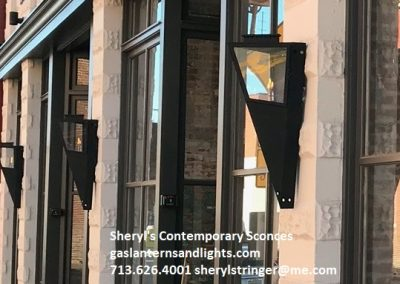 Sheryl's Contemporary Gas Sconces