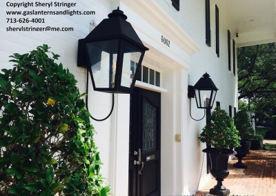 Sheryl's Extra Large Style 1 Gas Lanterns with Black Finish, Houston,