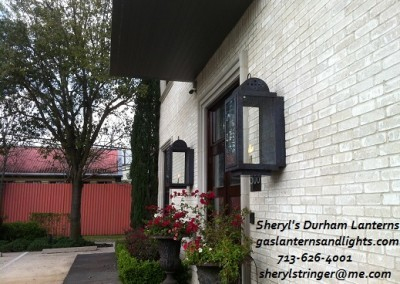 Sheryl's Durham Gas Lanterns, Dark Patina Finish, Extra Large Size