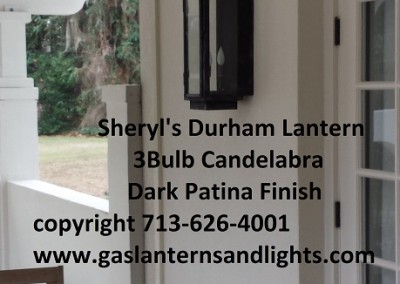Sheryl's Electric Durham Lantern with 3 Bulb Candelabra Base