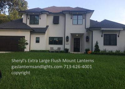 Extra Large Flush Mount Gas Lanterns