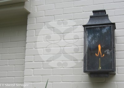 Sheryl's Flush Mount Lantern with Dark Patina Finish