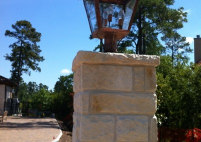Sheryl's Extra Large French Electric Lantern on column