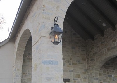 Sheryl's French Style Gas Lantern with Dark Patina  Finish