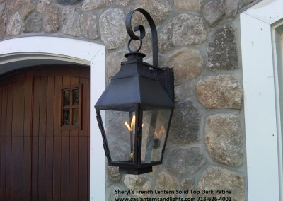 Sheryl's French Style Gas Lantern on Home in Westchester County, NY