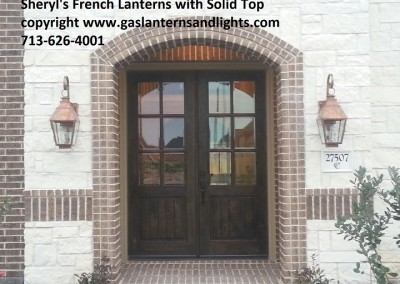 Sheryl's French Style Gas Lanterns with Natural Copper Finish