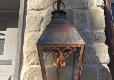 Sheryl's French Gas Lantern with Scroll