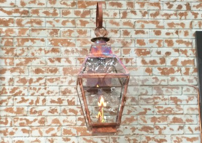 Sheryl's French Style Gas Lantern with Glass Top, River Oaks, Houston, TX