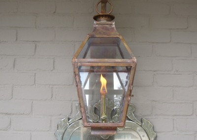 Sheryl's French Style Gas Light with Glass Top