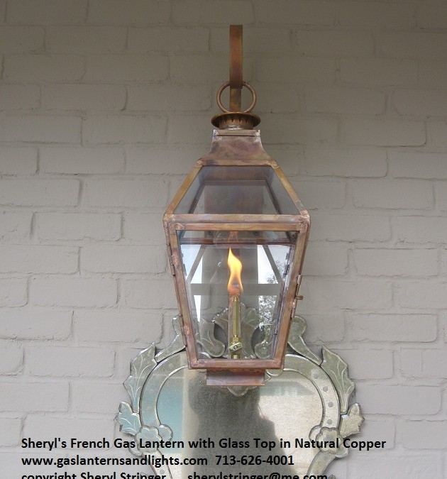 35. Sheryl's French Glass Top Lanterns