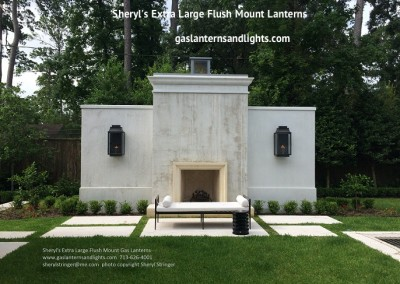 Extra Large Flush Mount Lanterns on Fireplace