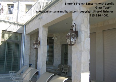 Sheryl's Electric French Lantern with Scrolls