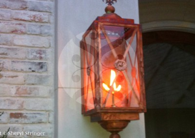 Sheryl's Georgetown Natural Gas Lantern, Natural Copper Finish
