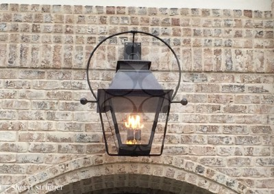 Sheryl's Large V Style Lantern with Dark Patina Finish