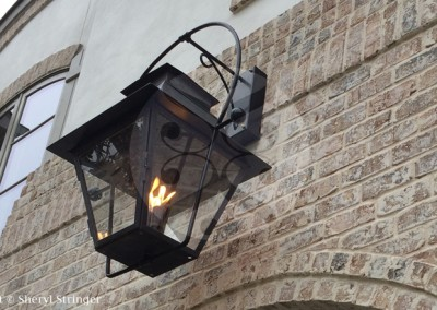 Sheryl's Large V Style Lantern Dark Patina Finish