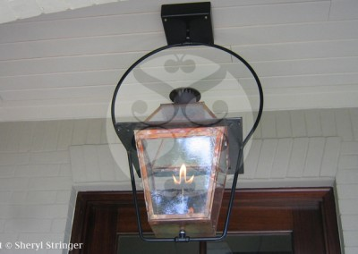 Sheryl's New Orleans Style Gas Lantern on Steel Yoke