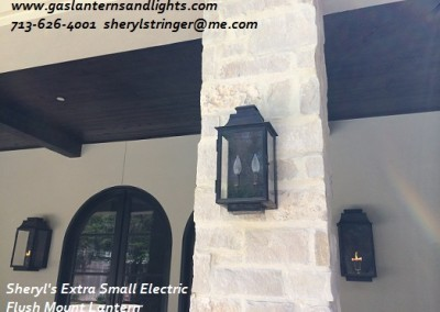 Sheryl's Extra Small Flush Mount Electric Lantern with Two Bulb Candelabra Base