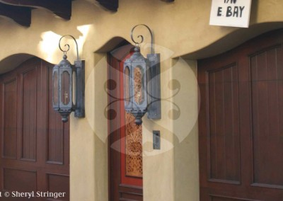 Sheryl's Moroccan Gas Lanterns with Dark Patina Finish