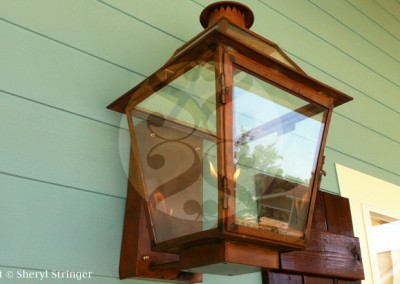 Sheryl's New Orleans Style Gas Lantern with Glass Top, Copper Mounting Box