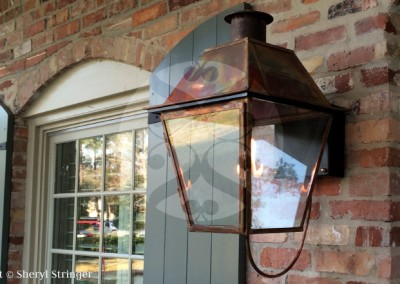 Sheryl's New Orleans Style Gas Light with Solid Top in Houston