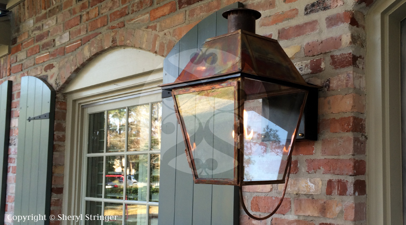 38 new orleans style with bracket gas lanterns and lights