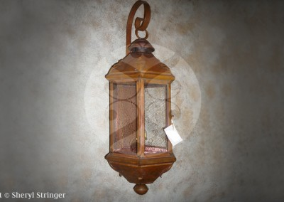 Sheryl's New York Style Gas Lantern with Top Curl
