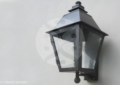 Sheryl's Nordby Gas Lantern with Dark Patina Finish