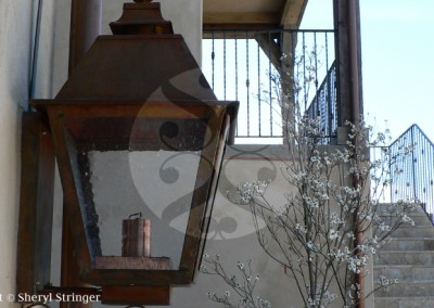 Sheryl's Nordby Gas Lamp with Natural Copper Finish