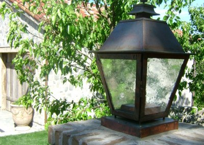 Nordby Gas Lantern with Copper Column Box