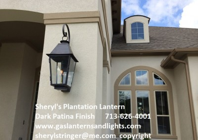 Sheryl's Large Plantation Lantern with Dark Patina Finish