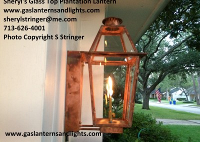 Plantation Gas Light with Glass Top
