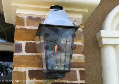 Sheryl's Plantation Lantern with Solid Top, Dark Patina Finish