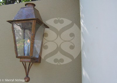 Sheryl's Plantation Gas Lantern with Bottom Finial
