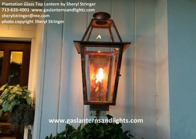 Gas Lantern with Glass Top