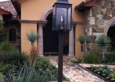 Sheryl's Flush Mount Lantern as Post Mount