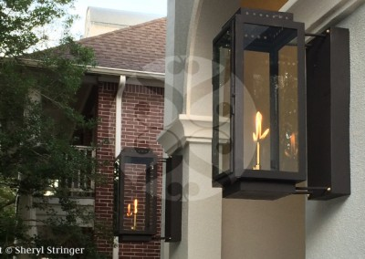 San Marcos Gas Lights with Optional Extended Wall Box
