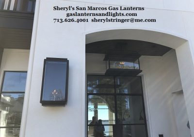 Contemporary San Marcos Gas Lanterns