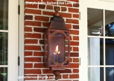 Santa Barbara Gas Lantern, Natural Finish