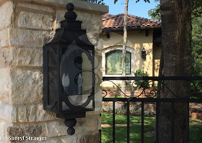 Electric Santa Barbara Lantern with Dark Patina Finish