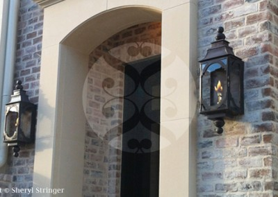 Santa Barbara Gas Lantern with Dark Patina Finish