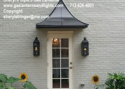 Sheryl's Style 3 Flush Mount Gas Lanterns