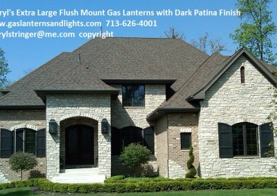 Extra Large Flush Mount Gas Lanterns in Chicago